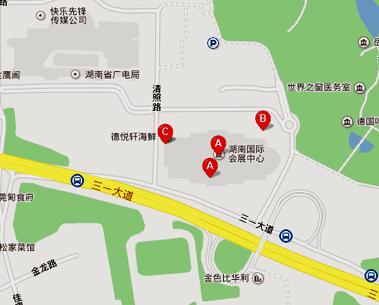 湖南国际会展中心地图